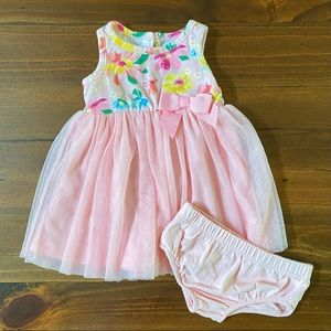 Baby Girl Floral Tulle Dress with Bloomers